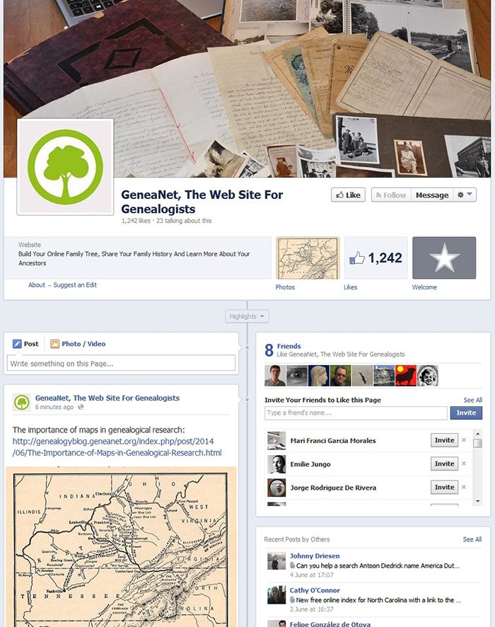 Do You Know The Geneanet Facebook Page? - Geneanet - build family tree online