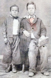 José Mauro (1840-1916) and his older brother Juan María Luján (1834-1914)