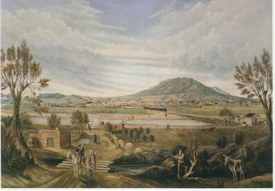 View of El Paso by Leon Trousset, 1885