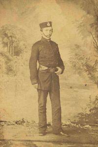 James Young, 1st Regiment, Prince of Wales Rifles of Montreal, Volunteer Militia, ca. 1862.