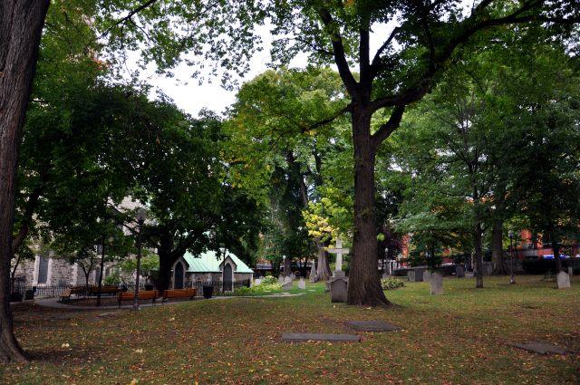 St. Matthew's Cemetery in Quebec City is now a park. 2012. Photo: François Laflamme.