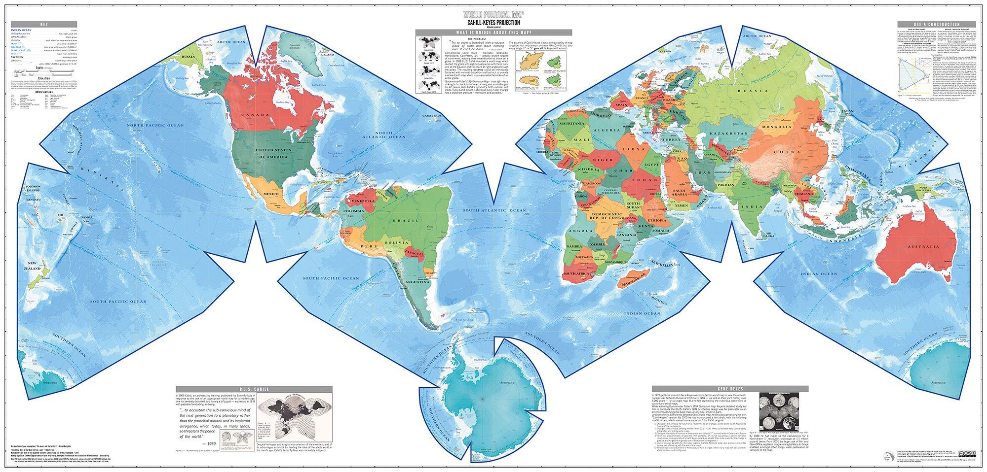 Poster Of The World Cahill Keyes World Map Poster