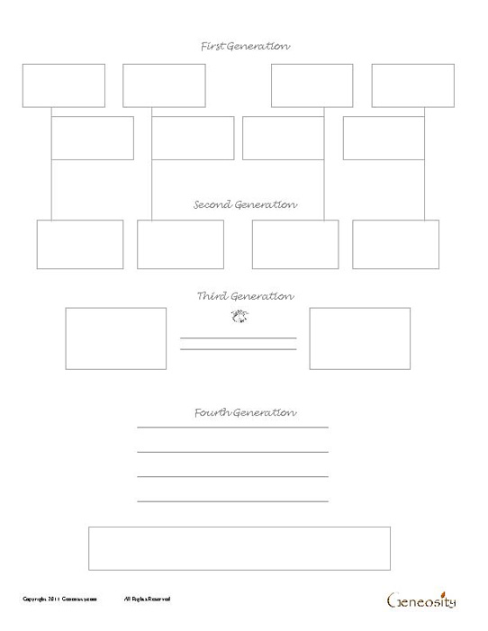 Four Generation Family Tree Template Image collections - Template