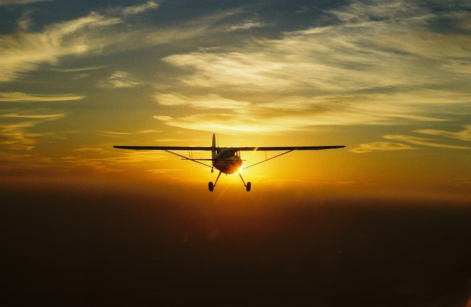 Airplane Full Hd Wallpaper Picture Of The Day Luscombe At Sunset General Aviation News
