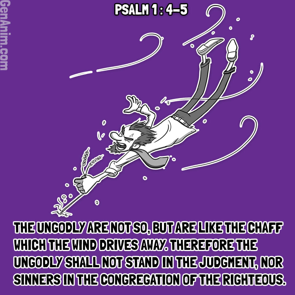 Psalm 1:4-5 Illustrated