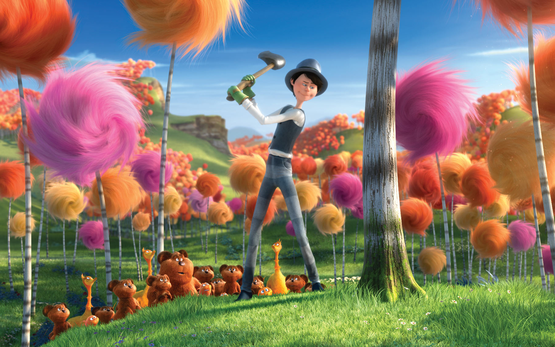 Cute Crisp Wallpapers Movie Review Dr Seuss The Lorax A Sugary Piece Of