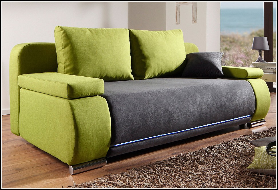 Schlafsofa Mit Led Schlafsofa Inklusive Rgb Led Beleuchtung - Beleuchthung ...
