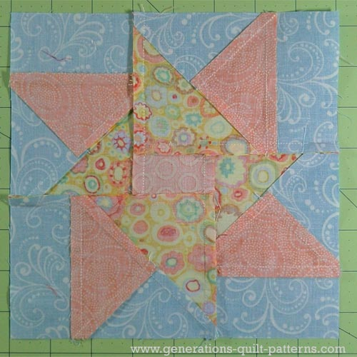 "Quilt Blocks Double Star Quilt Block Tutorial - 7.5"", 10"", 12.5"" And 15"