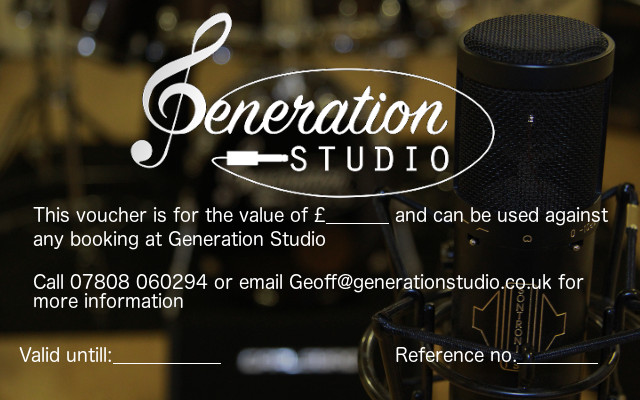 Generation Studio Gift Vouchers - how to make vouchers