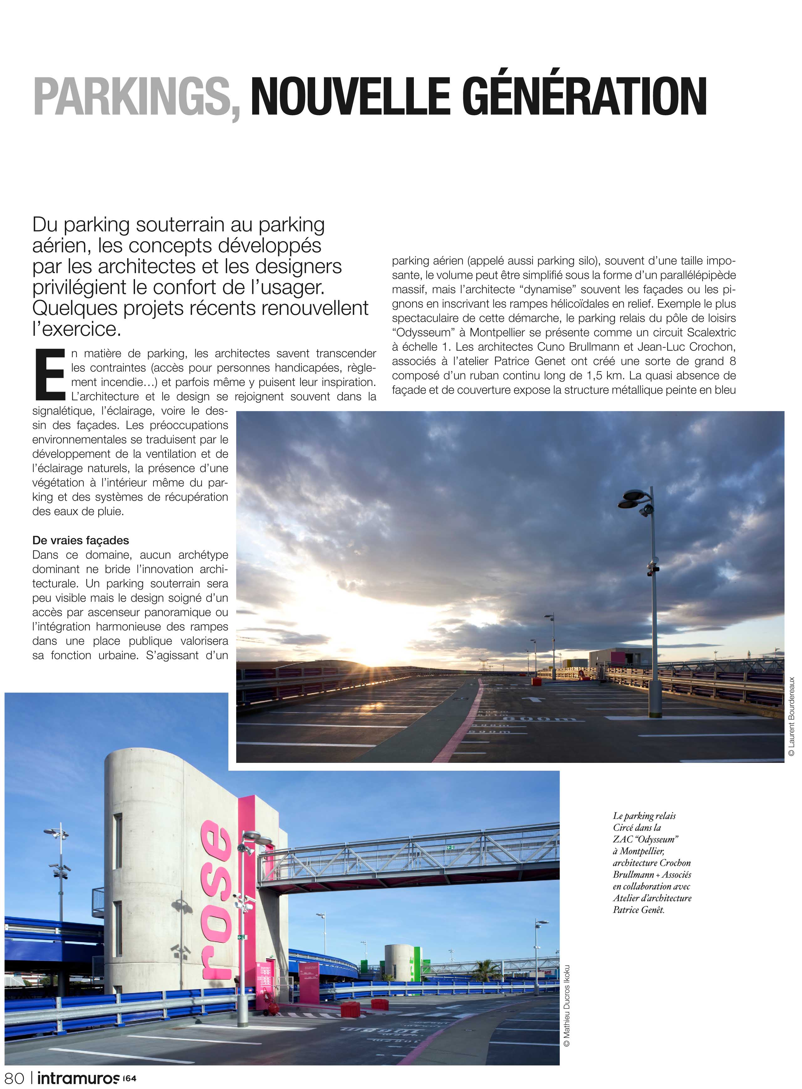 Parking Odysseum Montpellier Articles Cabinet D Architecture Patrice Genet Montpellier