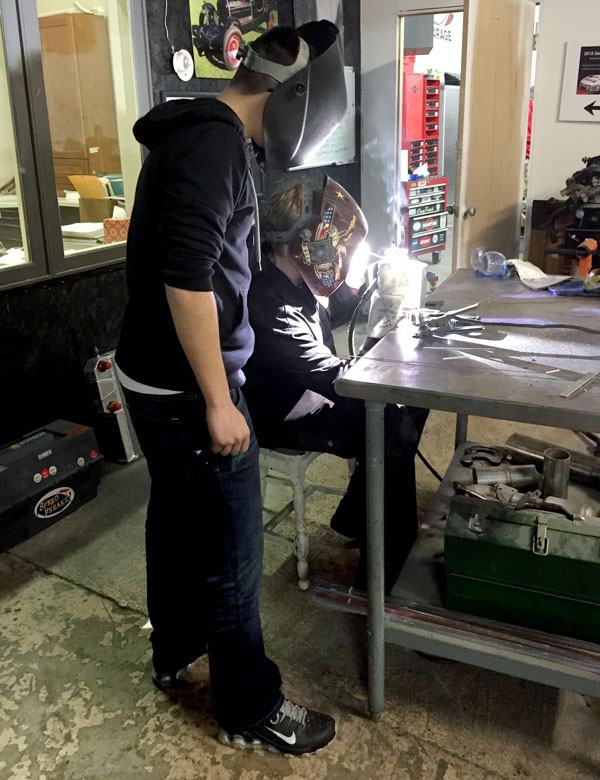 Thank you, Nate Millison, for mentoring the team in welding and different processing techniques.