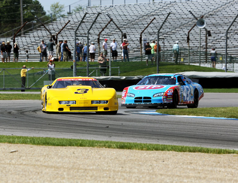 Those NASCARs are pretty quick and offer some really great competition for the Corvette.