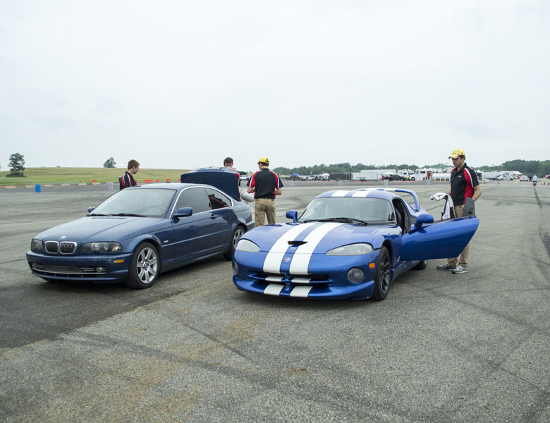 Casey and Chris are ready to take on the skidpad in the Viper and BMW, respectively.
