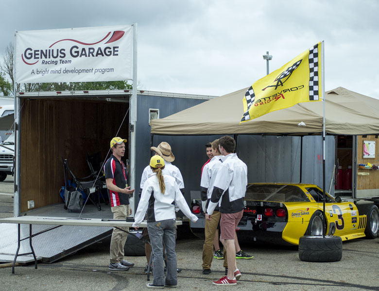After moving the Genius Garage banner, the team is ready to take on anything this weekend.