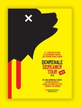 SCREAMER TOUR 2016 - Poster mit Schatten