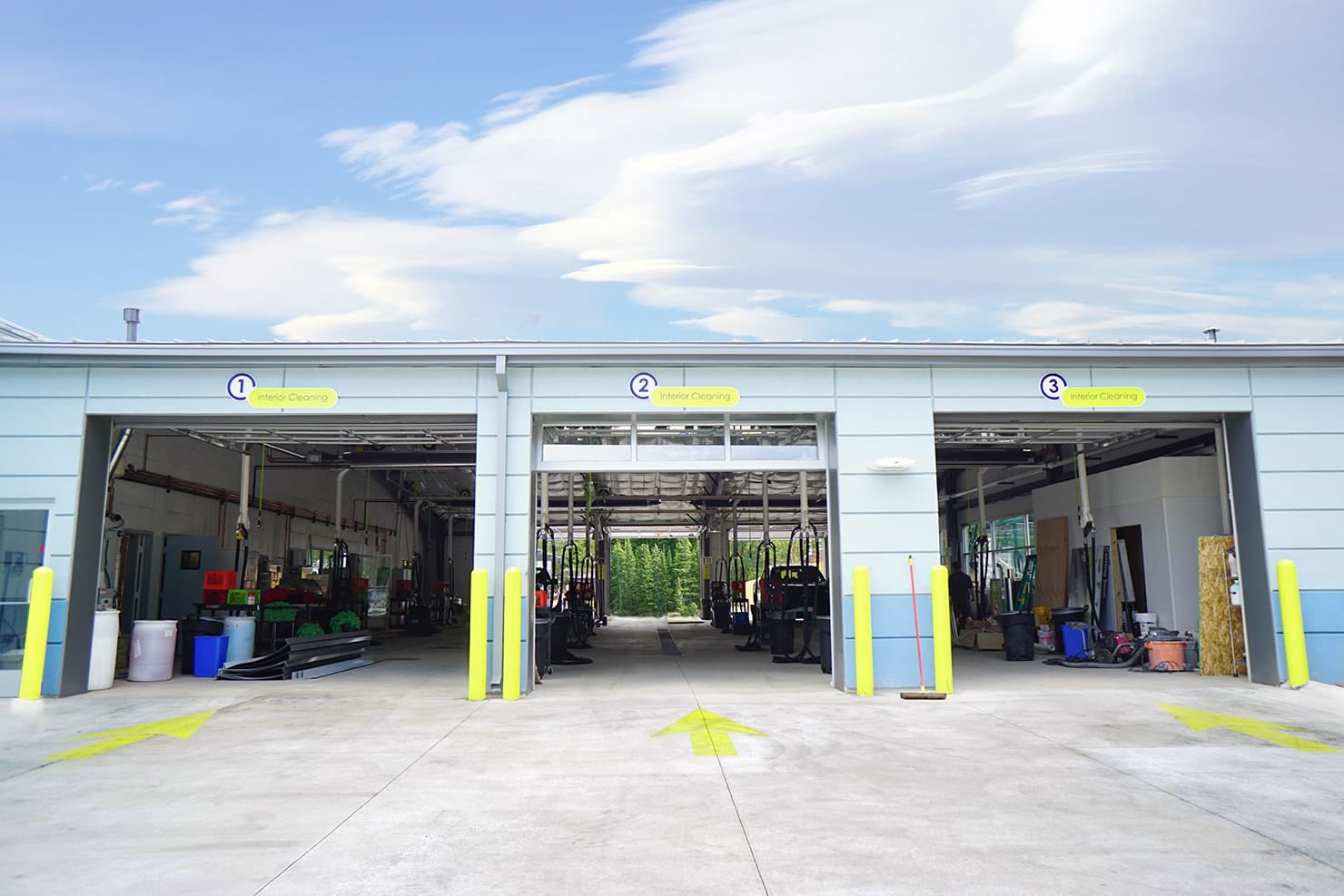 Auto Wash Car Wash Buildings Column Free Auto Detailing Buildings