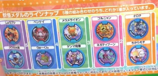 妖怪ウォッチ アニメ 妖怪メダル付メダルケースSP02 セブンイレブン メダル種類