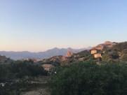 La vue de l'Hôtel des roches rouges