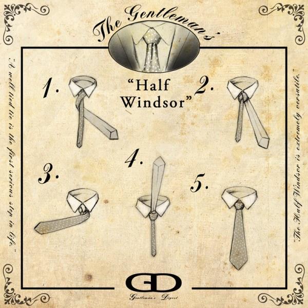 How to Tie a Half Windsor