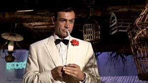 Sean Connery White Dinner Jacket in Goldfinger