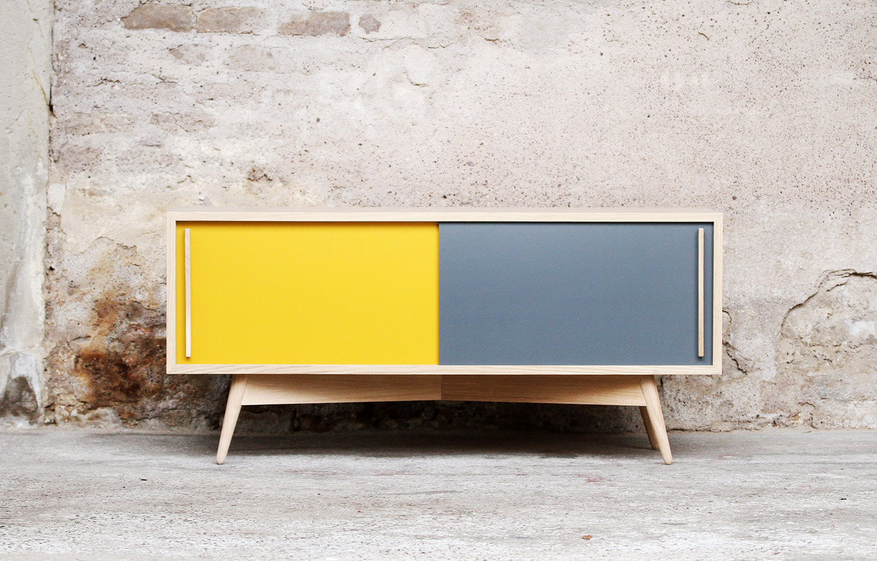 Meuble Tv Made In Design Meuble Tv Bas Style Scandinave -sur-mesure - Made In France