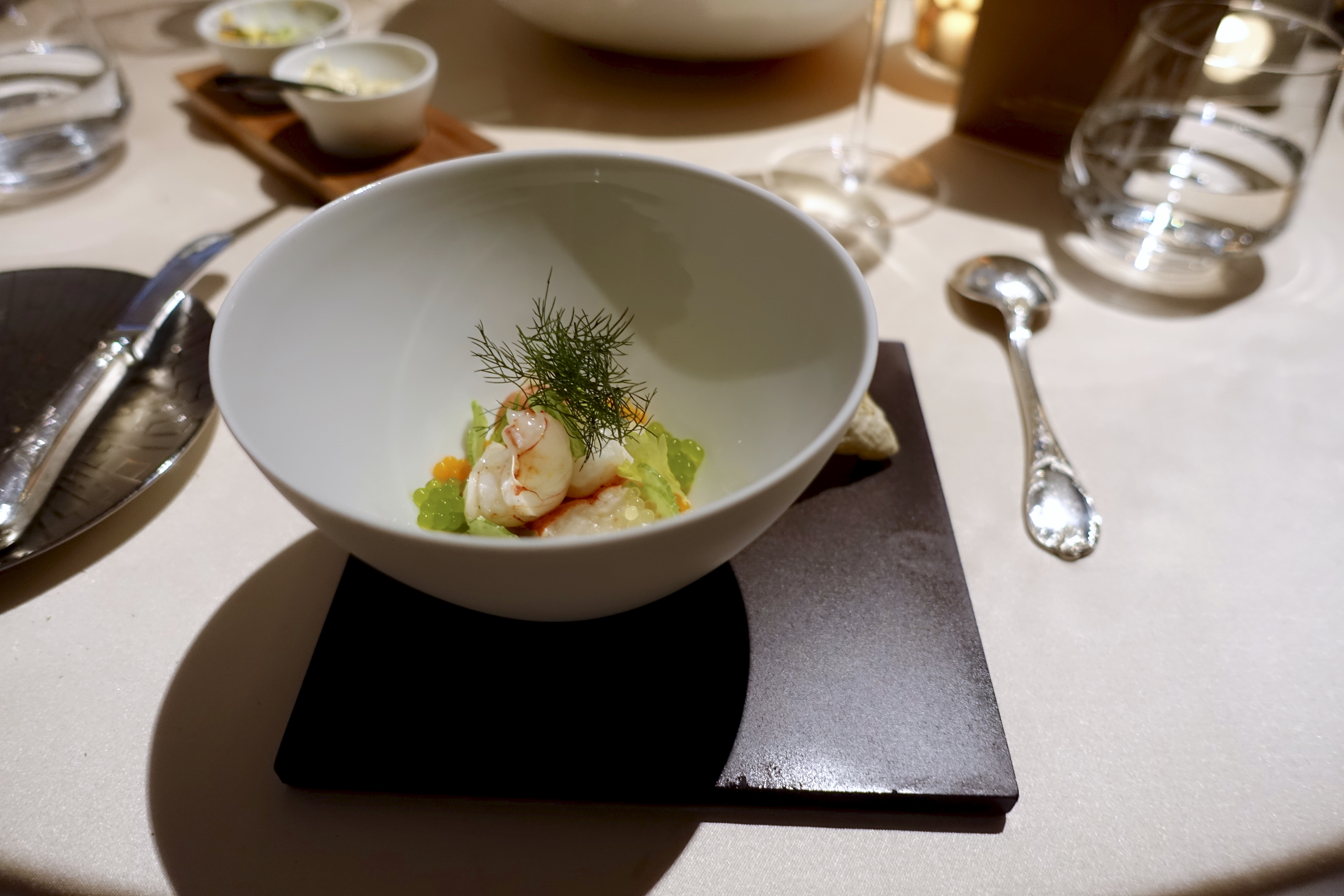 Lorenz Esszimmer Berlin Langoustine Lobster Squid Extract Of Crustaceans Celery