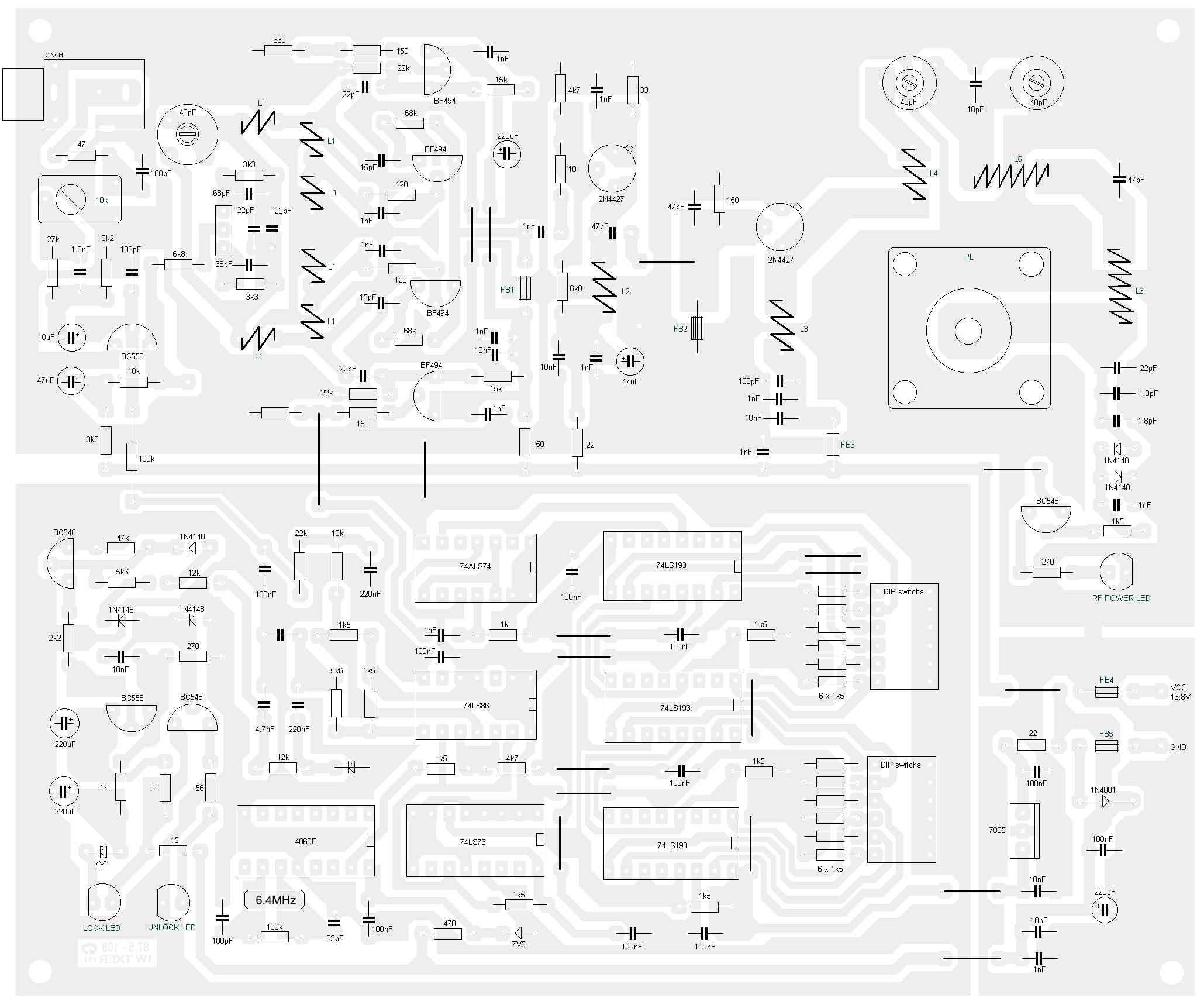 veronica 1w fm transmitter circuit