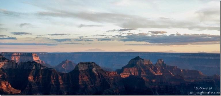 Sunset from Lodge North Rim Grand Canyon National Park Arizona