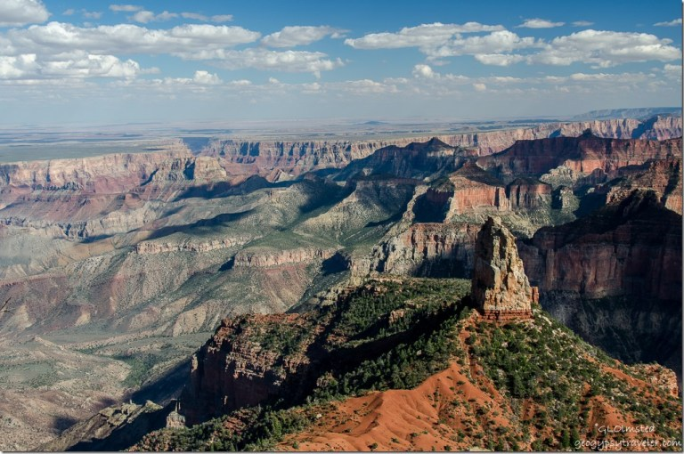 Mount Hayden & beyond from Point Imperial North Rim Grand Canyon National Park Arizona