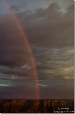 Rainbow from Cape Royal North Rim Grand Canyon National Park Arizona