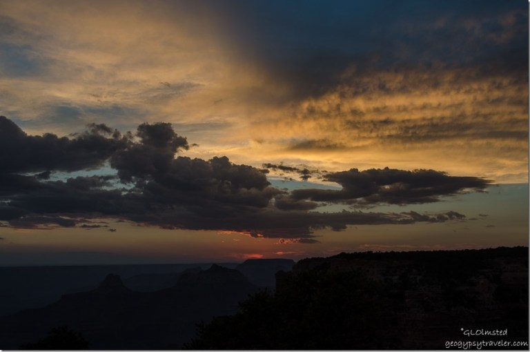 Sunset from Cape Royal North Rim Grand Canyon National Park Arizona