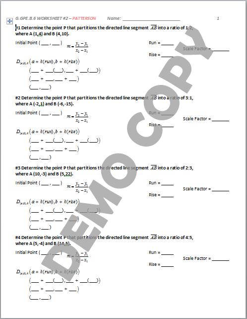 geometry worksheet high school
