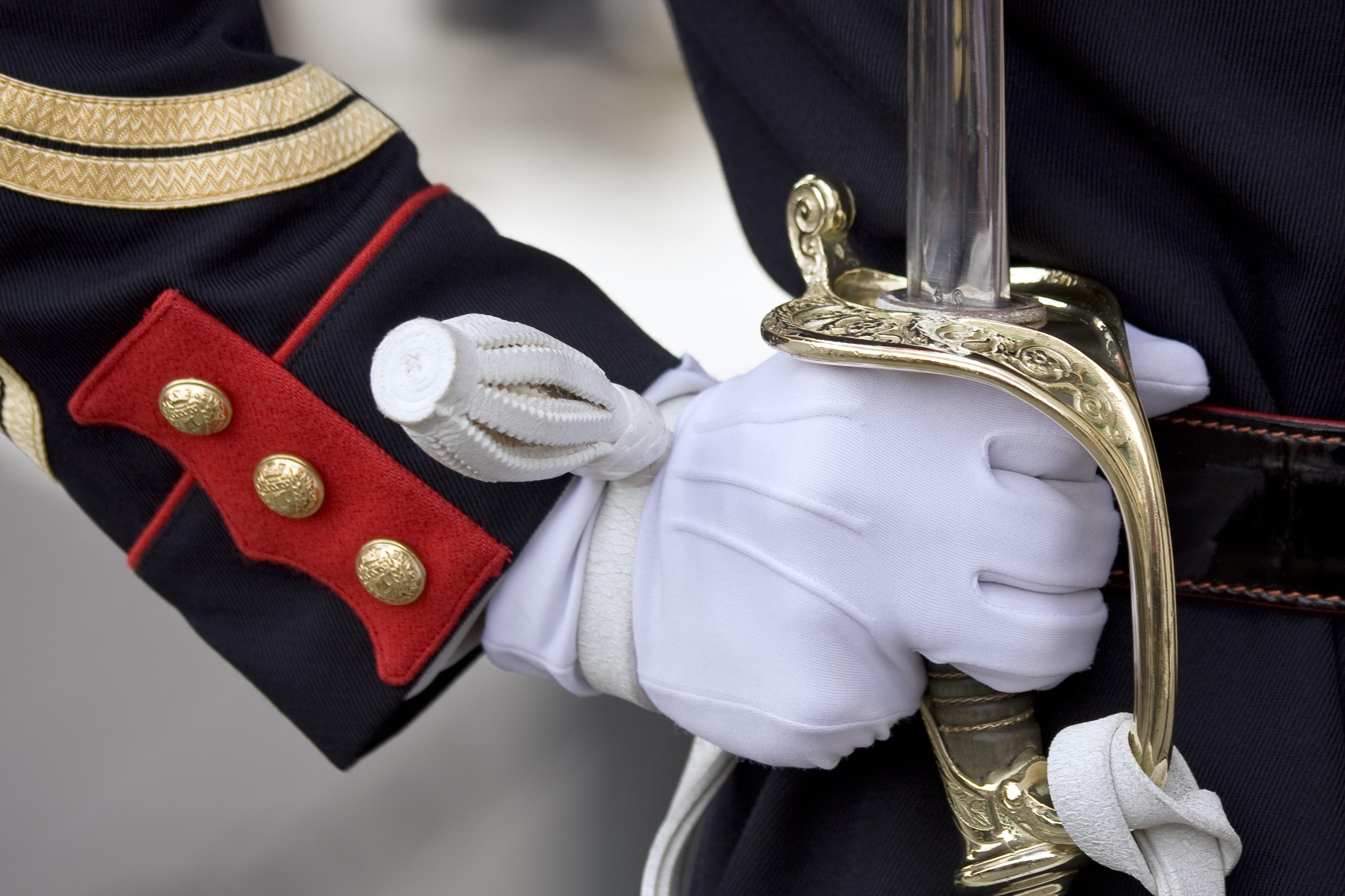 military parade glove