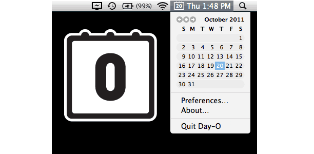 Mac menu bar calendar like Windows
