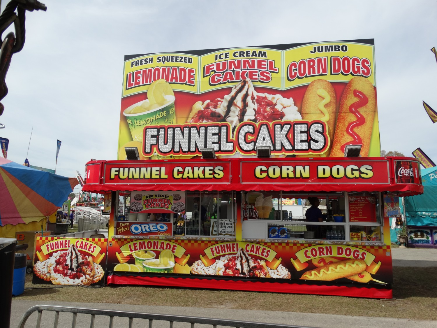 Funnel Cakes fried oreo