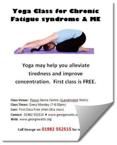 Yoga for ME poster