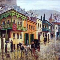 About Art - Paintings of Old Tbilisi by Giovanni Vepkhvadze
