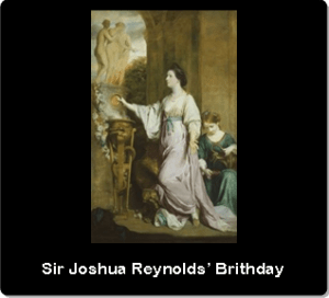 9. Sir Joshua Reynolds' Birthday