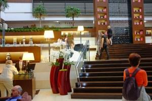 The modern interior of the Sofitel