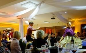 Energetic dancers were always in motion.