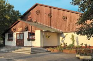 The rural country exterior of Szeker Csarda