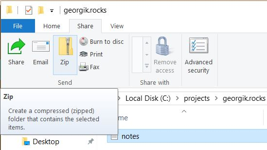 How to quickly zip files on Windows 10