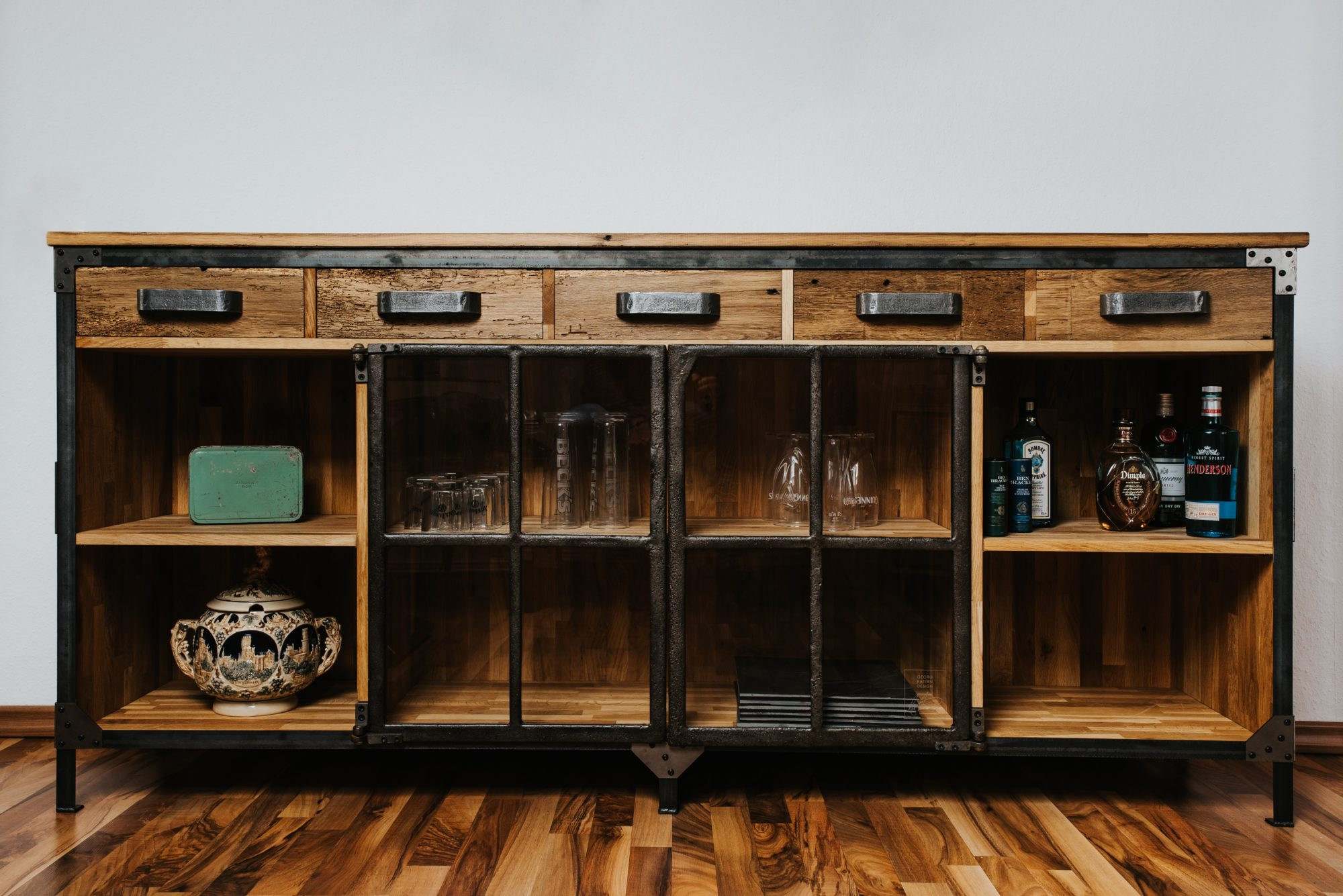 Wandregal Industrial Upcycling – Industrial – Sideboard – Georgkatern.de