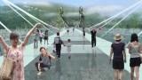 Safety Test of World's Longest Glass Bridge