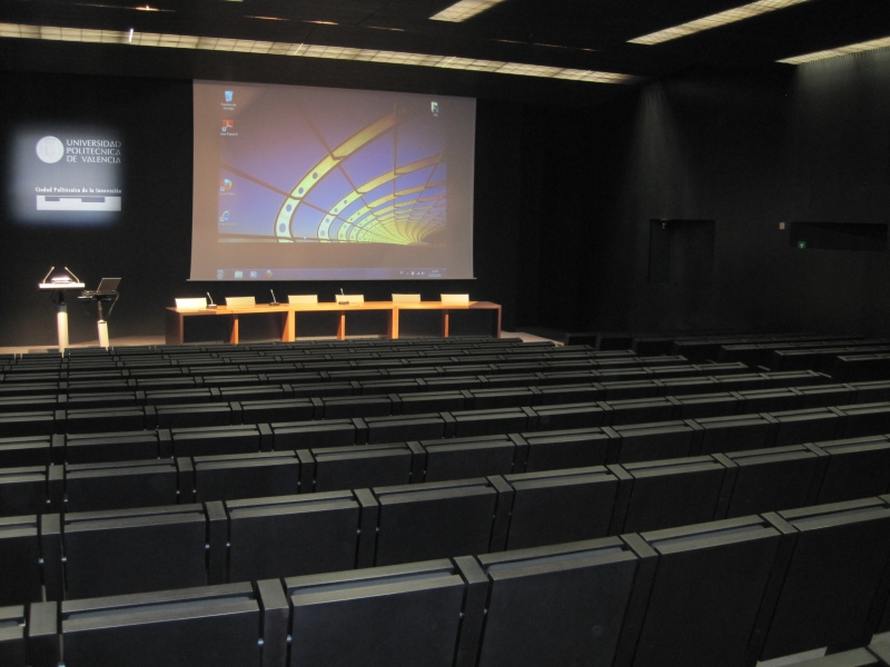 The Blue Cube Auditorium where the plenary sessions will take place