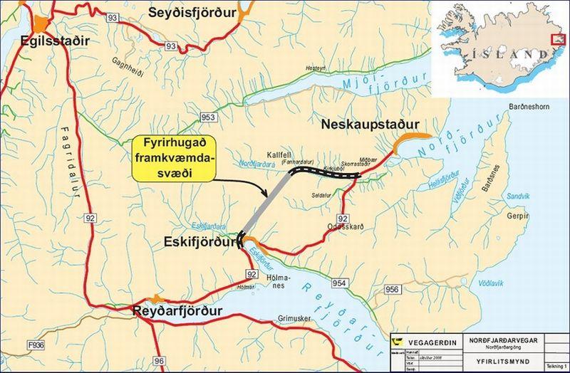 Norðfjarðargöng, yfirlitsmynd