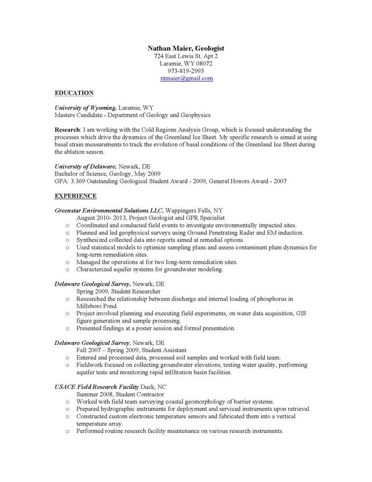 buy geology resume