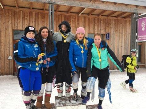 Skieuses du collège/ lycée la Haie Griselle