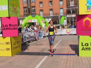 Gaëlle Pouchain réalise une belle fin de course et prend la 3ème place.