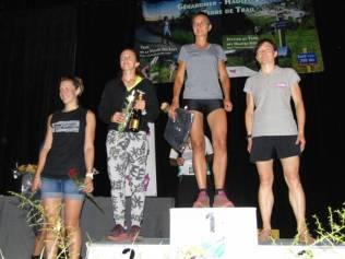 Le Podium féminin du 56 km scratch remporté par Danièle Collenne de Nancy